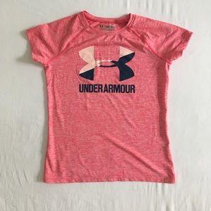 Under Armour girls' loose fit HeatGear t-shirt, M